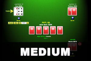 medium texas holdem